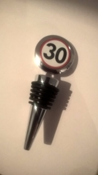 30th Birthday bottle stopper