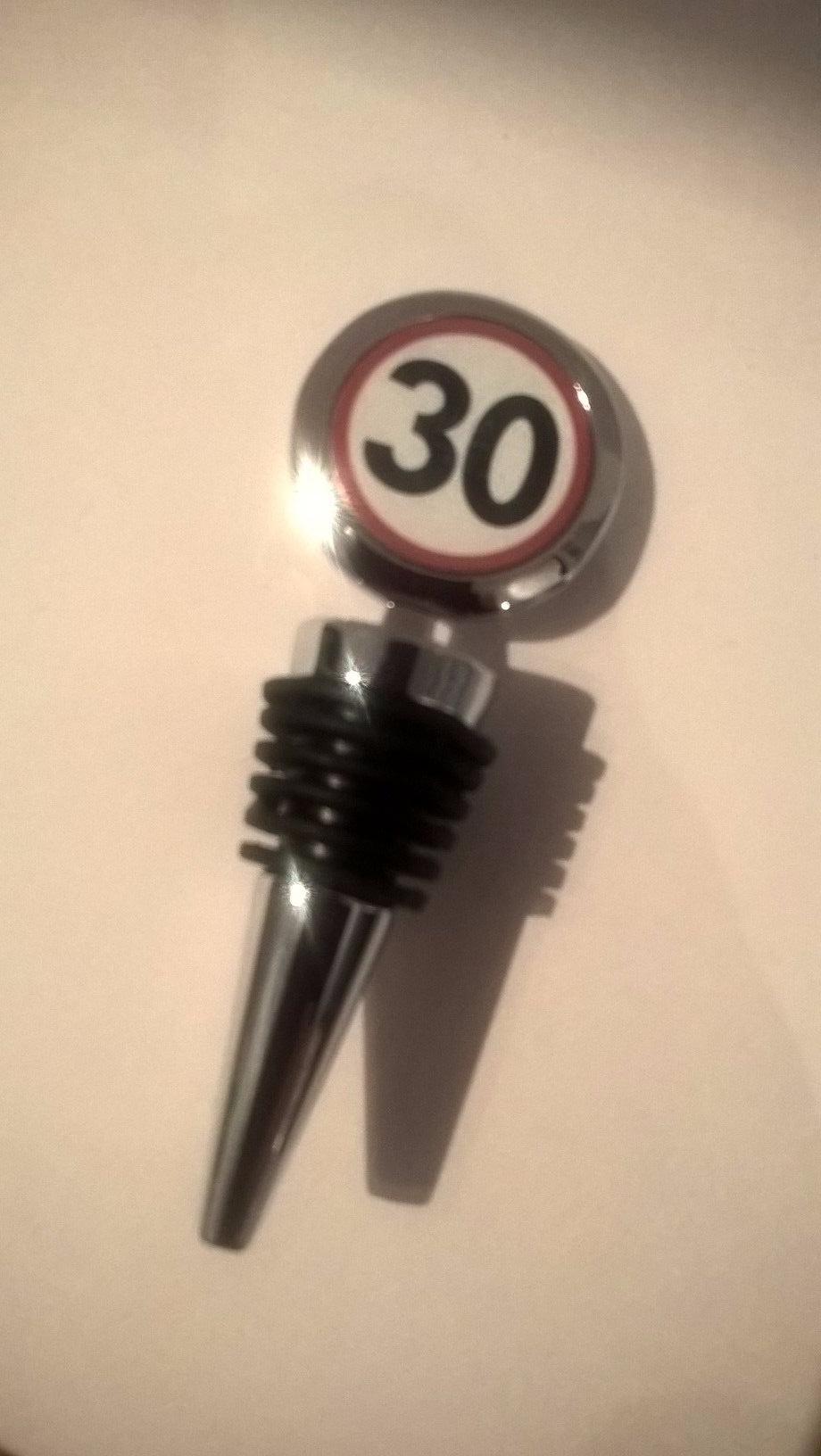 30th Birthday bottle stopper