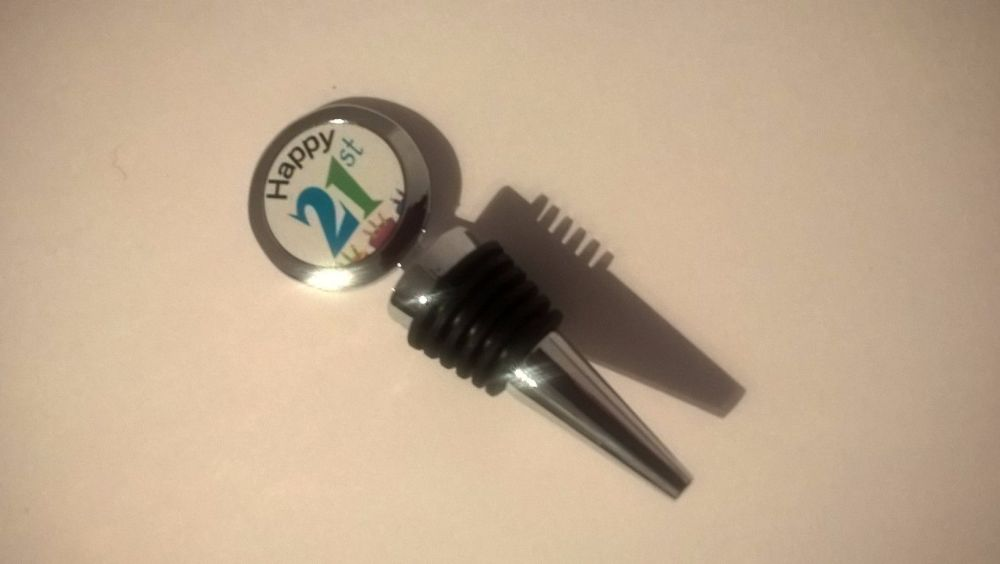 Happy Birthday Age bottle stopper - 30th, 21st, any age specified