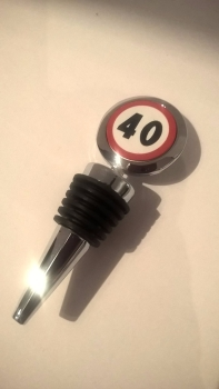 40th Birthday bottle stopper