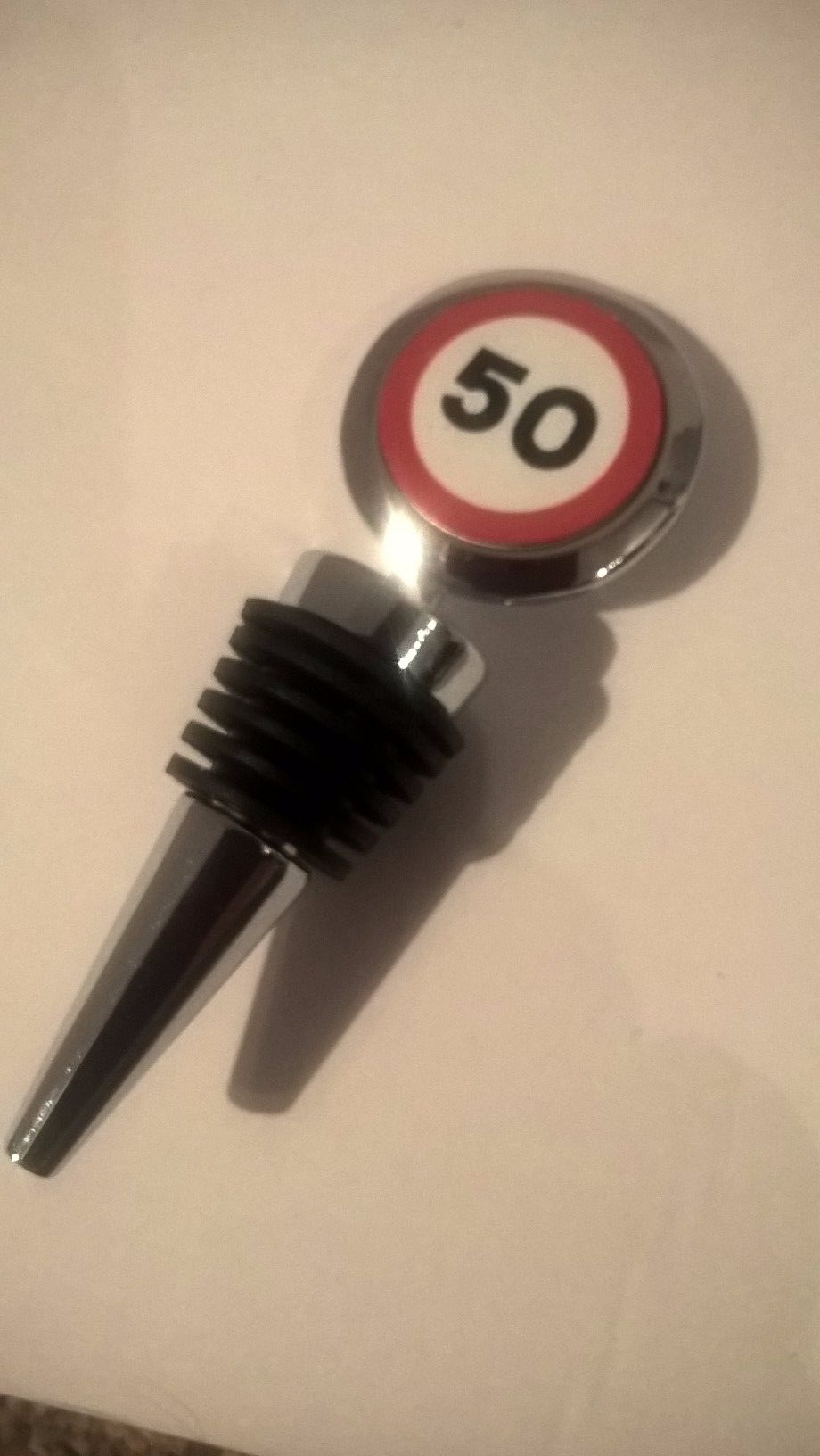 50th Birthday bottle stopper