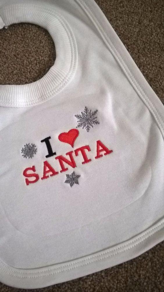 I love Santa Baby Bib
