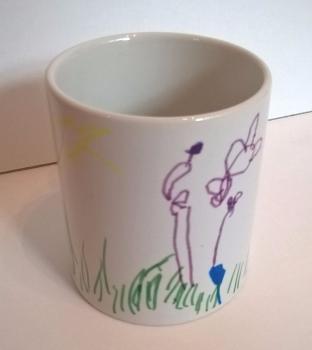 Artwork printed onto mug