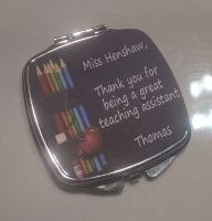 Teaching Assistant - Personalised Compact Mirror