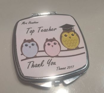 Top Teacher - Personalised Compact Mirror