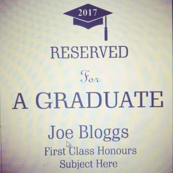 Personalised Reserved for a Graduate Mug