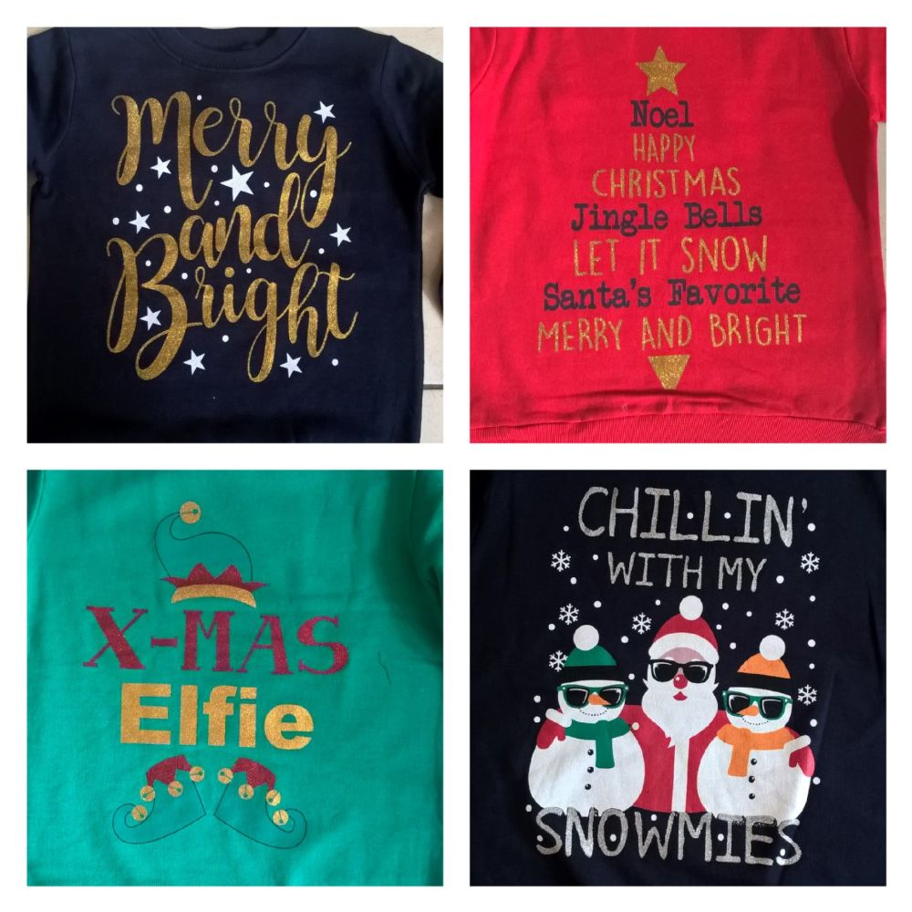 JUNIOR Christmas Jumper - 4 different designs to choose from 7-13 Yrs