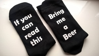 If you can read this.... Bring me a Beer - Novelty Socks