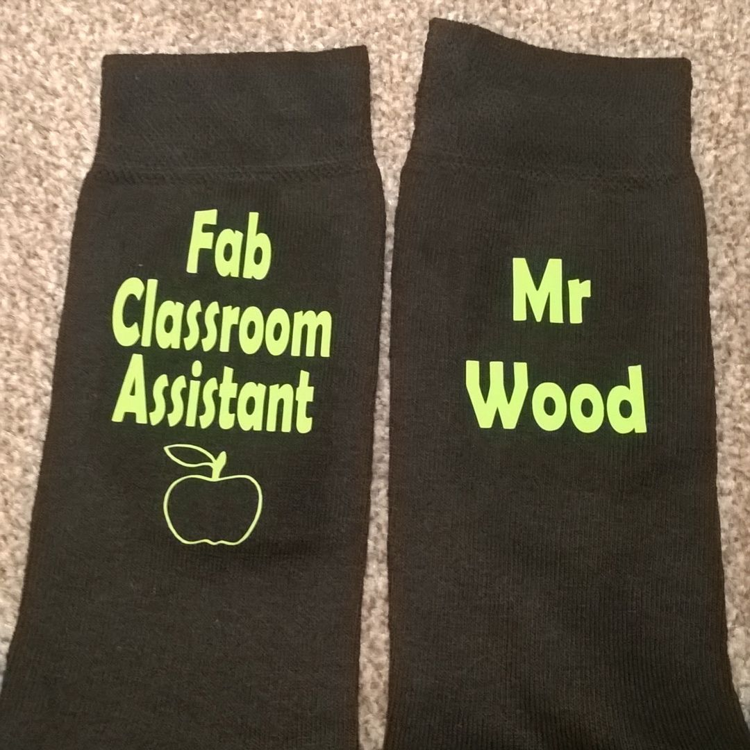 Personalised Fab Classroom Assistant Socks