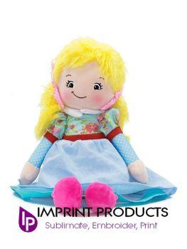 Personalised Blonde Hair Rag Doll by Cubbies