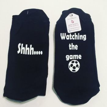 Shhh.... Watching the game - Novelty Socks
