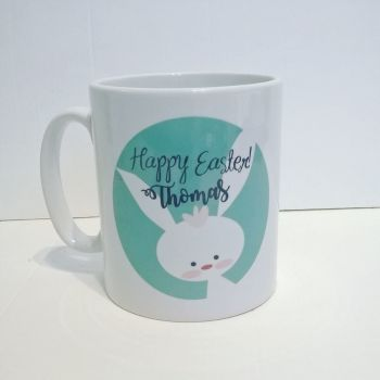 Personalised Easter Mug - aqua/teal colour