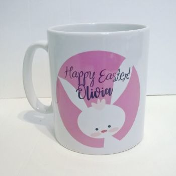 Personalised Easter Mug - pink colour
