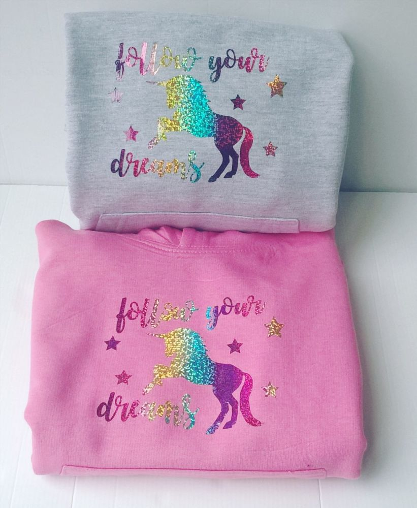 Unicorn - follow your dreams hoodie | Girls Unicorn Hoodie