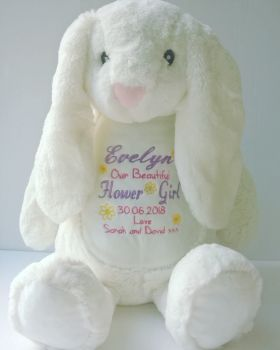 Flower Girl Personalised Bunny Soft Toy