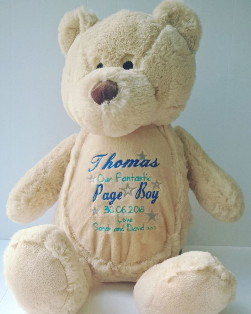 Personalised Page Boy Teddy Soft Toy
