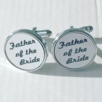 Father of the Bride Cufflinks - round