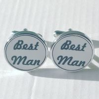 Best Man Cufflinks - round
