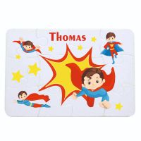 Personalised Boys Super Hero themed jigsaw - 12 or 63 pieces