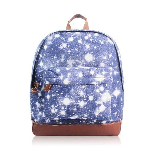 personalised blue galaxy rucksack personalized school bag multi