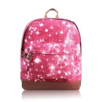Personalised Pink Galaxy Backpack Rucksack
