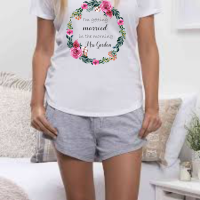 Getting Married in the Morning -  Floral Wreath Pyjama Set