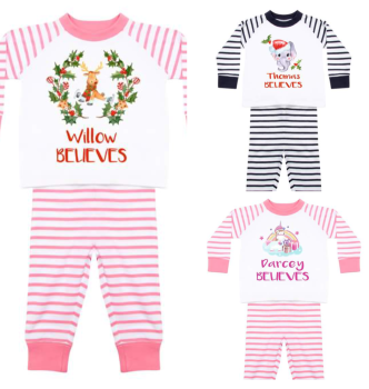 Personalised Christmas Pyjamas for boys and girls