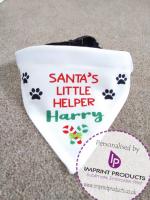 Personalised Dog Christmas Bandana