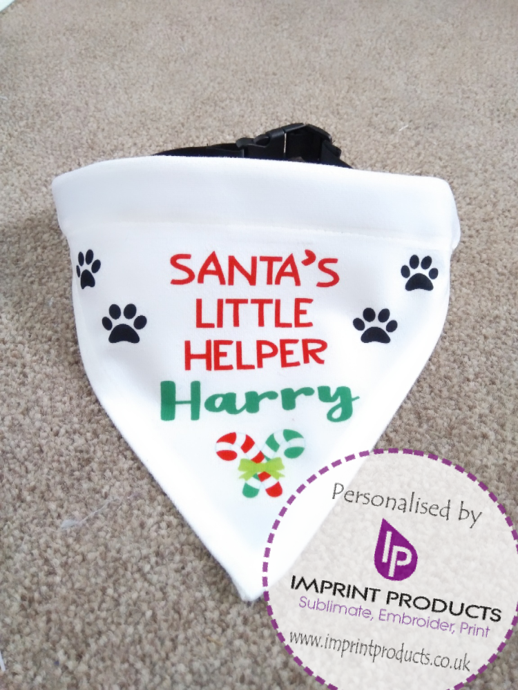 Personalised Dog Christmas Bandana by Imprint Products