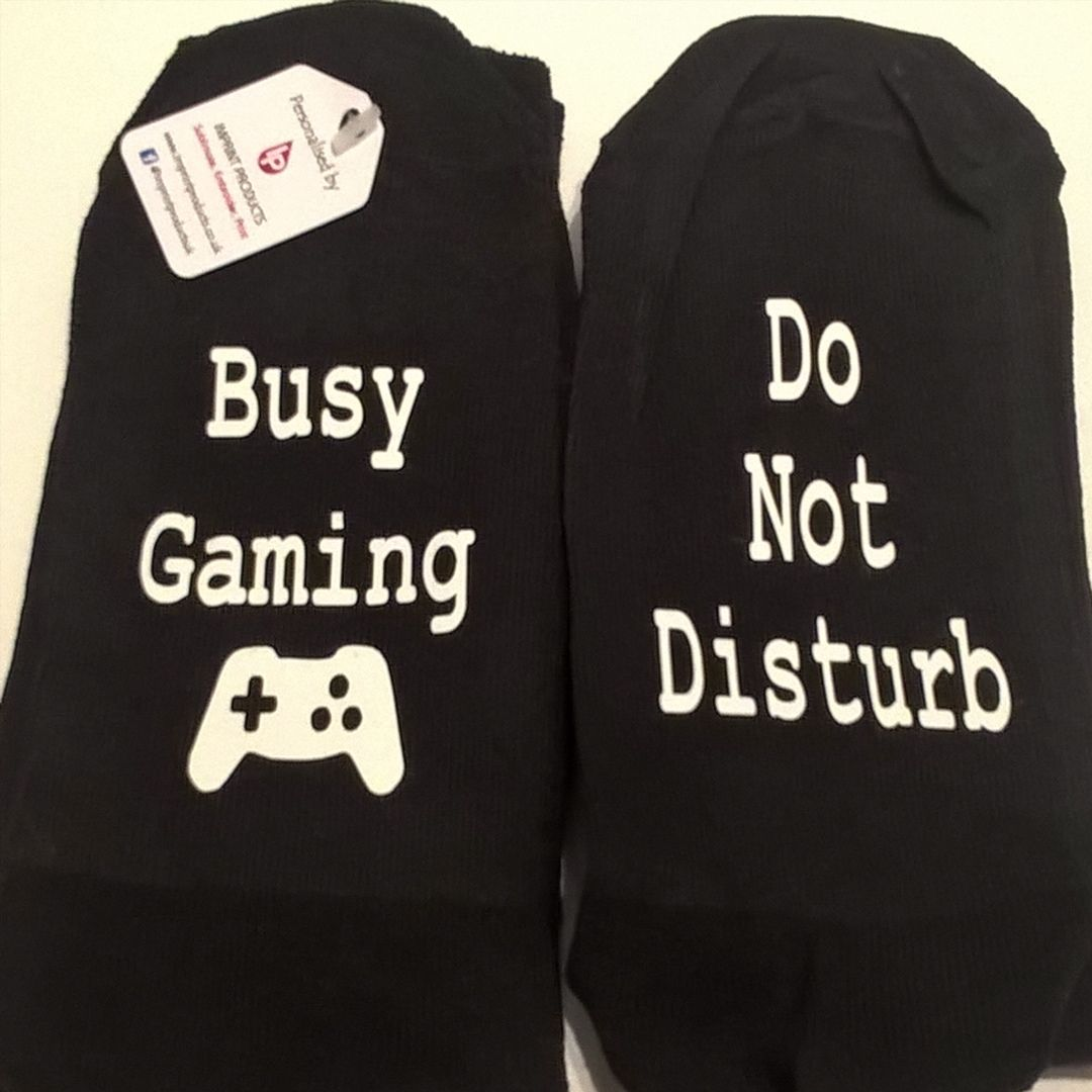 Busy Gaming do not disturb socks by Imprint Products