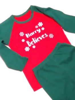 Believes Personalised Christmas Pyjamas - Childrens