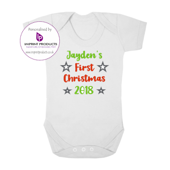 Personalised First Christmas Baby Bodysuit
