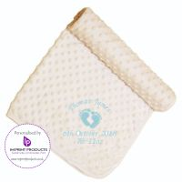 Personalised Baby Bubble Blanket with Birth details
