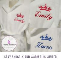 Baby and Children's Embroidered Personalised Dressing Gown