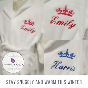 Personalised Baby and Children's Dressing Gown