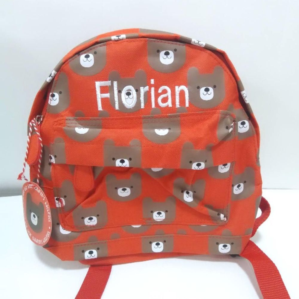 Personalised Child's Mini Bear themed Backpack