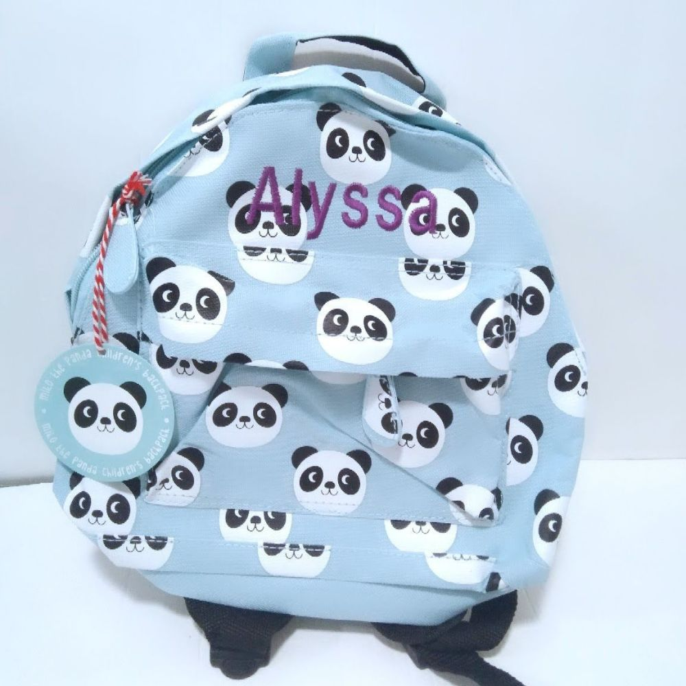 Personalised Child's Mini Panda themed Backpack | Toddler Backpack