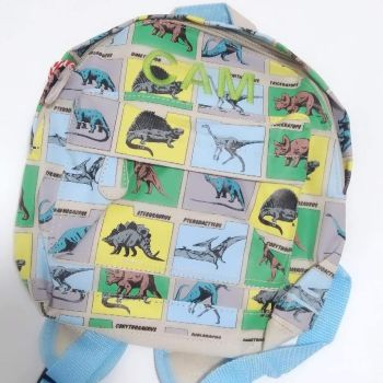 Personalised Child's Mini Dinosaur themed Backpack