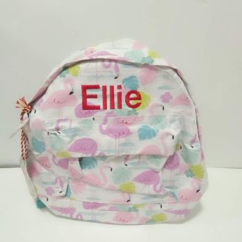 Personalised Child's Mini Flamingo Backpack
