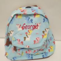 Personalised Unicorn Backpack Rucksack - Turquoise