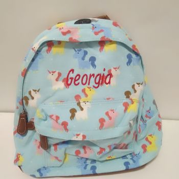 Personalised Unicorn Backpack Rucksack - Turquoise