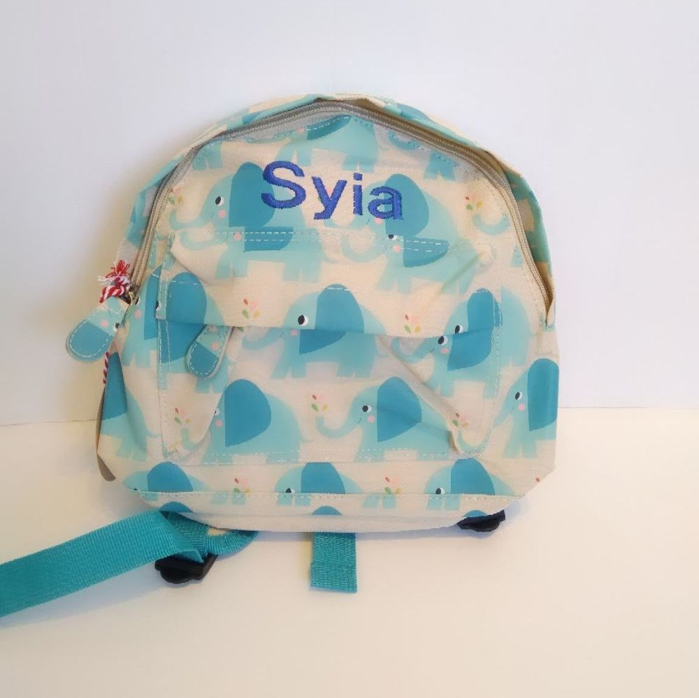 Personalised Child's Mini Elephant Backpack - ideal for nursery, school, pe