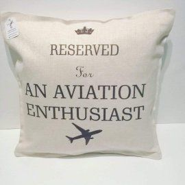 Reserved for An Aviation Enthusiast Linen Cushion