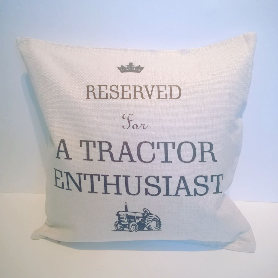 Reserved for A Tractor Enthusiast ...... Linen Cushion | Tractor Owner Gift