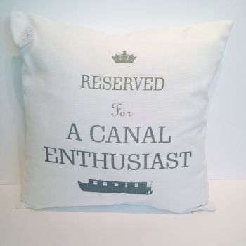 Reserved for A Canal Enthusiast Linen Cushion