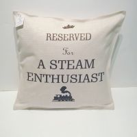 Reserved for A Steam Enthusiast Linen Cushion | Cool gift for train lovers | Gift for railway enthusiasts | Imprint Products