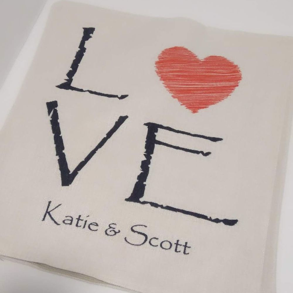 Personalised Love Printed Linen Cushion