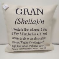 Personalised Gran Definition Linen Style Cushion