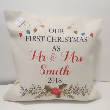 First Christmas as Mr and Mrs Cushion