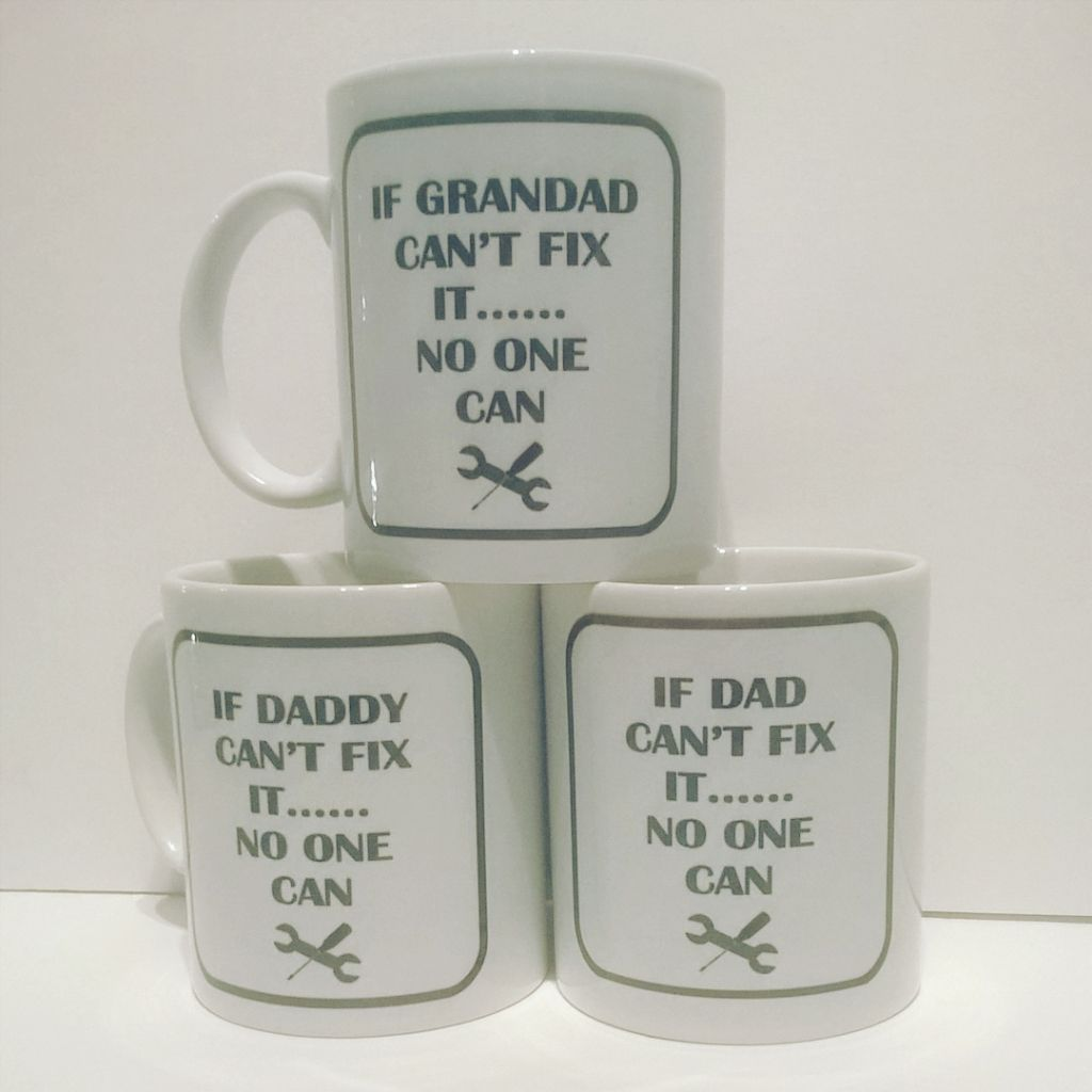 If Grandad Can't Fix it - Mug (dad, daddy also available)